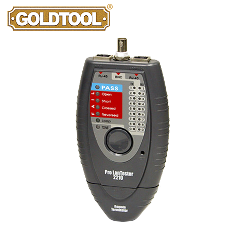 GOLDTOOL TCT-2210 LAN Cable Tester for RJ45 and BNC Connector